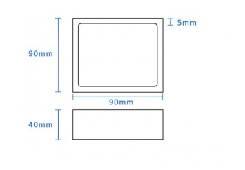 Boron Nitride Rectangle Crucible (90x90x40mm)