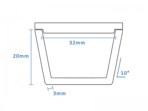 Boron Nitride Tapered Crucible (32mm D x 20mm H)