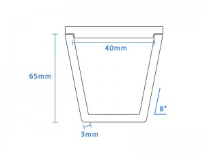 Boron Nitride Tapered Crucible (40mm D x 65mm H)