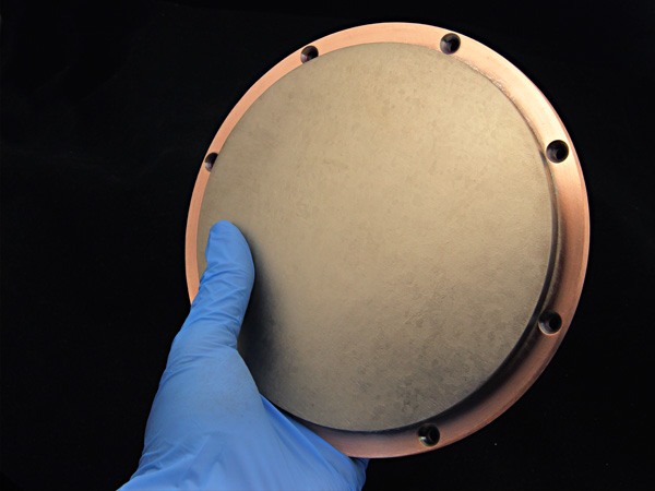 backing plate for Erbium  sputter target